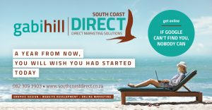 South Coast Direct, Gabi Hill, Graphic Design, Web Design, Online Marketing, Port Shepstone, Shelly Beach